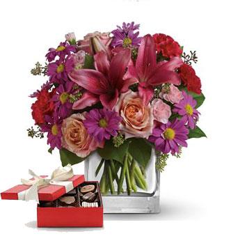 Code: A39CH. Name: Enchanted Garden  with a box of chocolates. Price: NZD $104.90