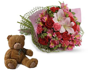 Code: B32. Name: From the Heart. Description: Tell someone you love them with this romantic bouquet which includes roses, lilies, alstroemeria and carnations. Price: NZD $114.90