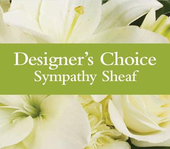 Code: D5. Name: Sympathy Sheaf. Description: Can not decide on what to send? The Designers Choice Sympathy Sheaf is a one-of-a-kind collection of the designers freshest flowers. Price: NZD $72.90