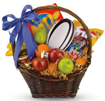 Unique gourmet custom gift baskets corporate gift baskets footy fever negle Choice Image