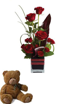 Code: R30. Name: Rose Romance. Description: Roses, the traditional flower of love, receive a modern twist in this imaginative arrangement, stylishly presented in a contemporary glass cube. Price: NZD $114.90