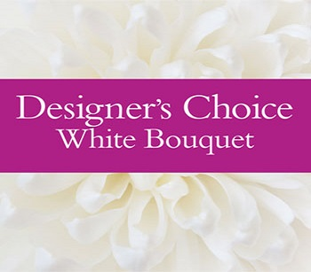 Code: D18. Name: Designers White Bouquet. Description: Let our florist design a White floral Bouquet for you. Price: NZD $60.90 - NZ Wide Delivery
